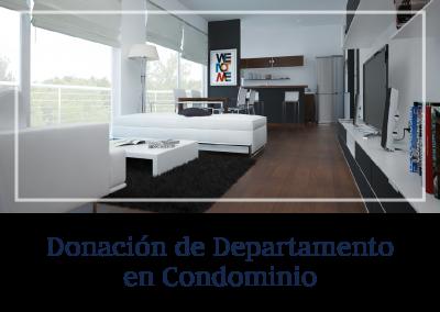 Donación de Departamento en Condominio