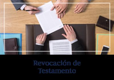 Revocación de Testamento